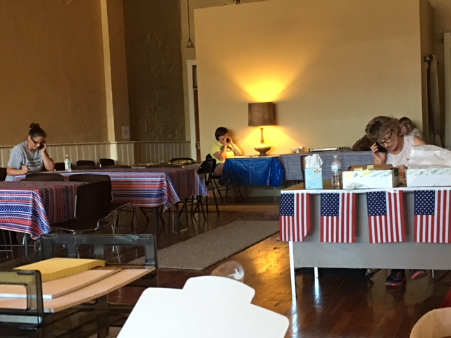 Our volunteers hard at work on the phones!