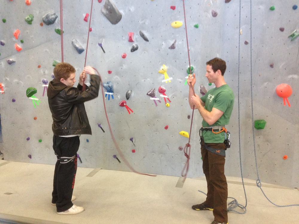 Climbing instructor training