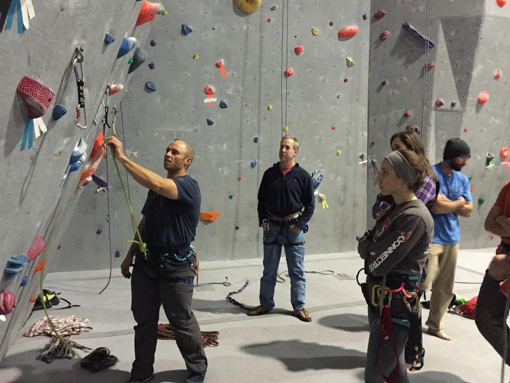 Lead climbing instructor