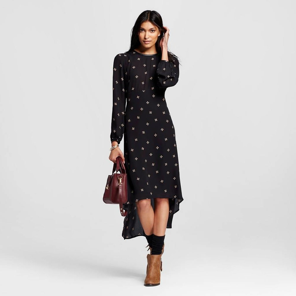 Long Sleeve Crepe Dress.jpeg
