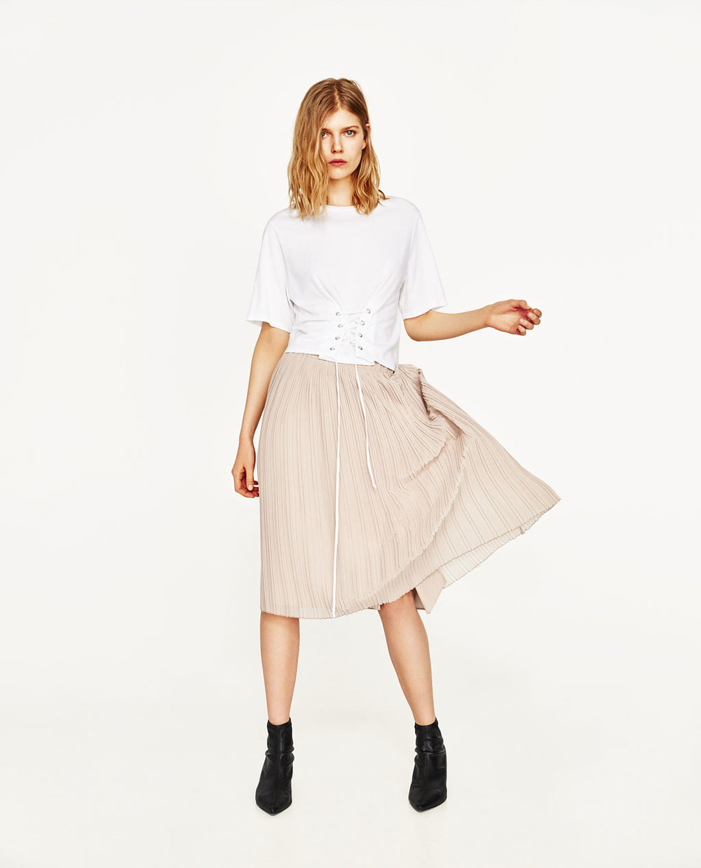 Zara Nude Pleated Midi.jpg
