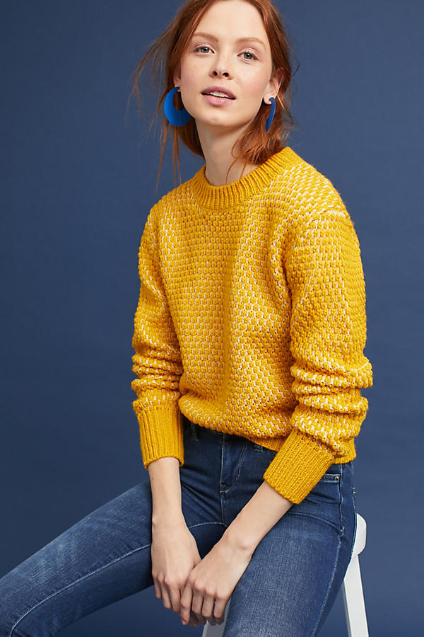 Anthro Yellow Sweater.jpeg