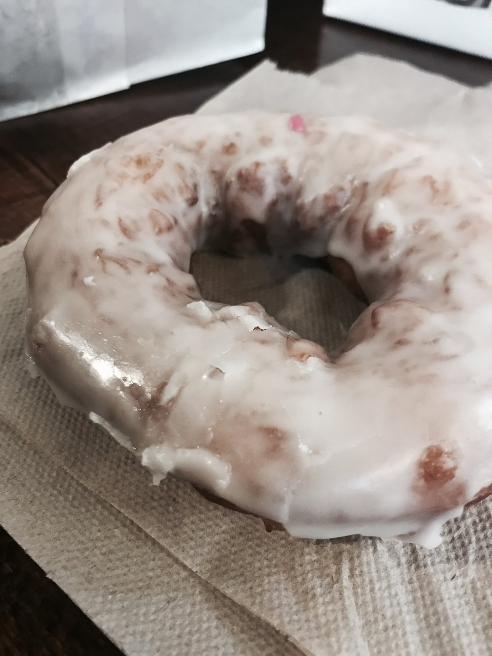 This is the lemon donut. I also tried the pomegranate and chocolate glazed (no shame), which were equally delicious!