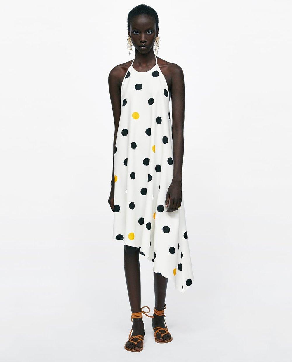 Polka Dot Halterneck Dress Zara.jpg