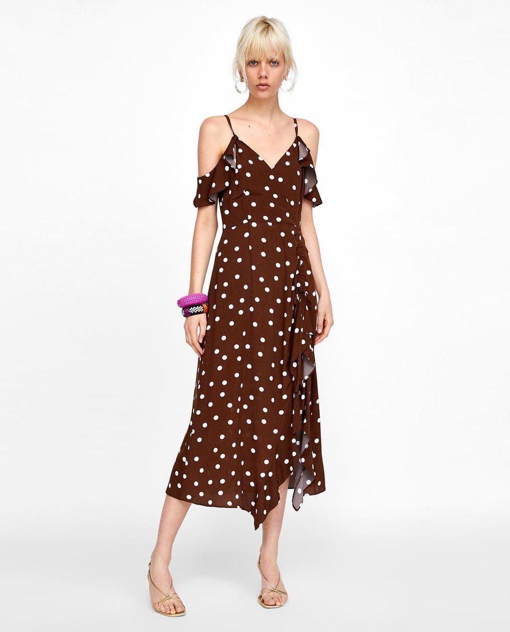 Zara Brown Polka Dot Dress.jpg