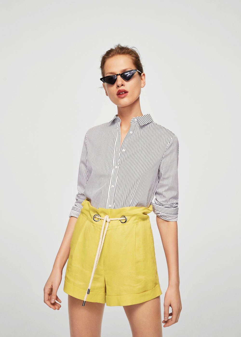 Mango  Linen shorts .jpg