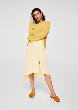 Mango Pleated Mini Skirt.jpg