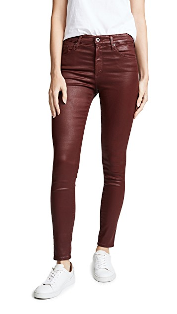 AG Jeans Farrah ankle leatherette skinny jeans.jpg