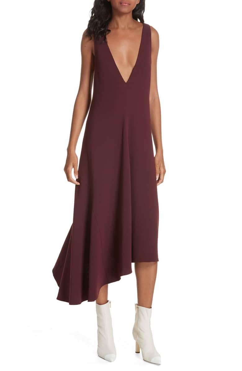 Burgundy Tibi Drape Dress.jpeg