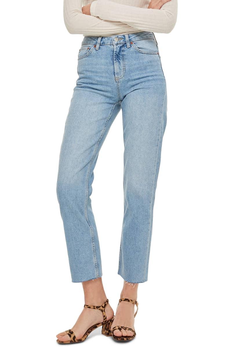 TopShop Raw Hem Straight Leg Jeans.jpeg