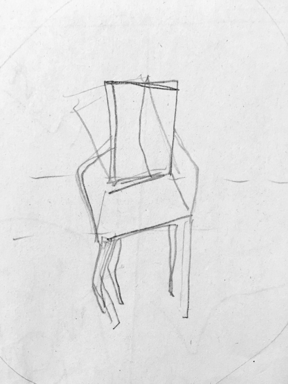 Chair in contrappsto