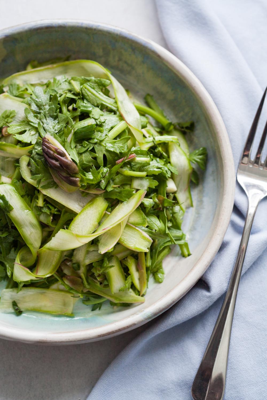 Liver Detox Asparagus and Dandelion Salad