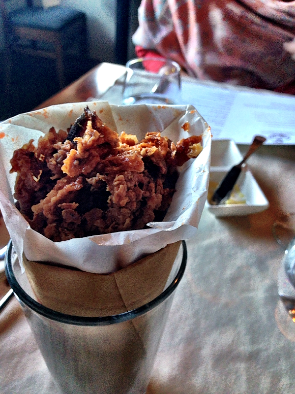 A Cone of Fried Chicken Skins