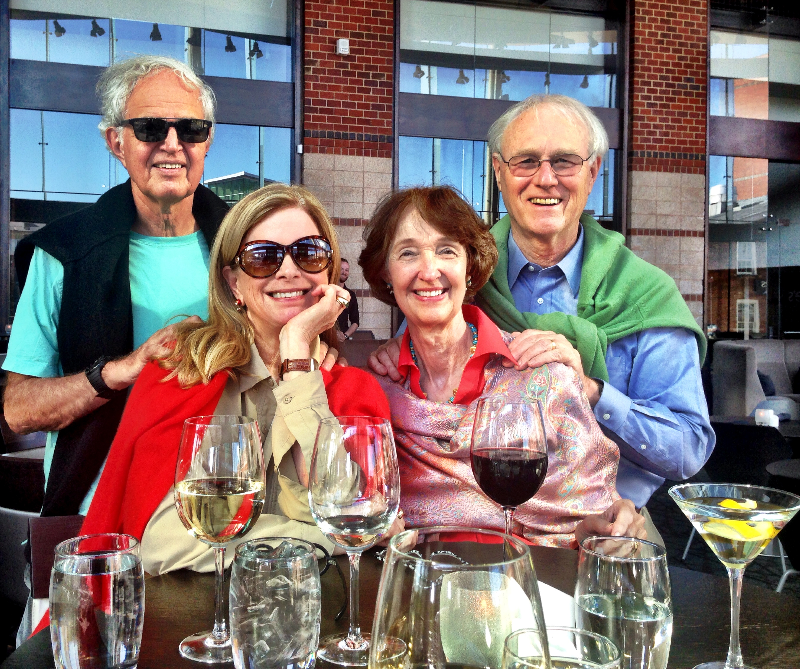 Ed, Jo, Myrta and Dave–The Happy Foursome on the Fried Adventure