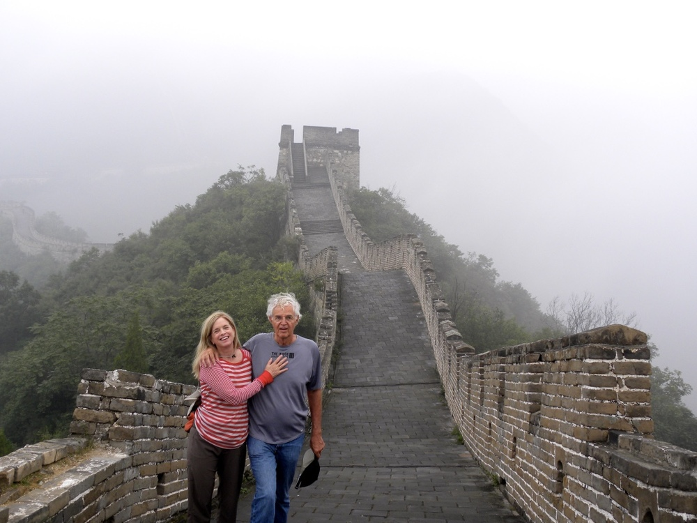 Author and husband, Ed Warren, at Mutianyu section of the Great Wall, September 11, 2012