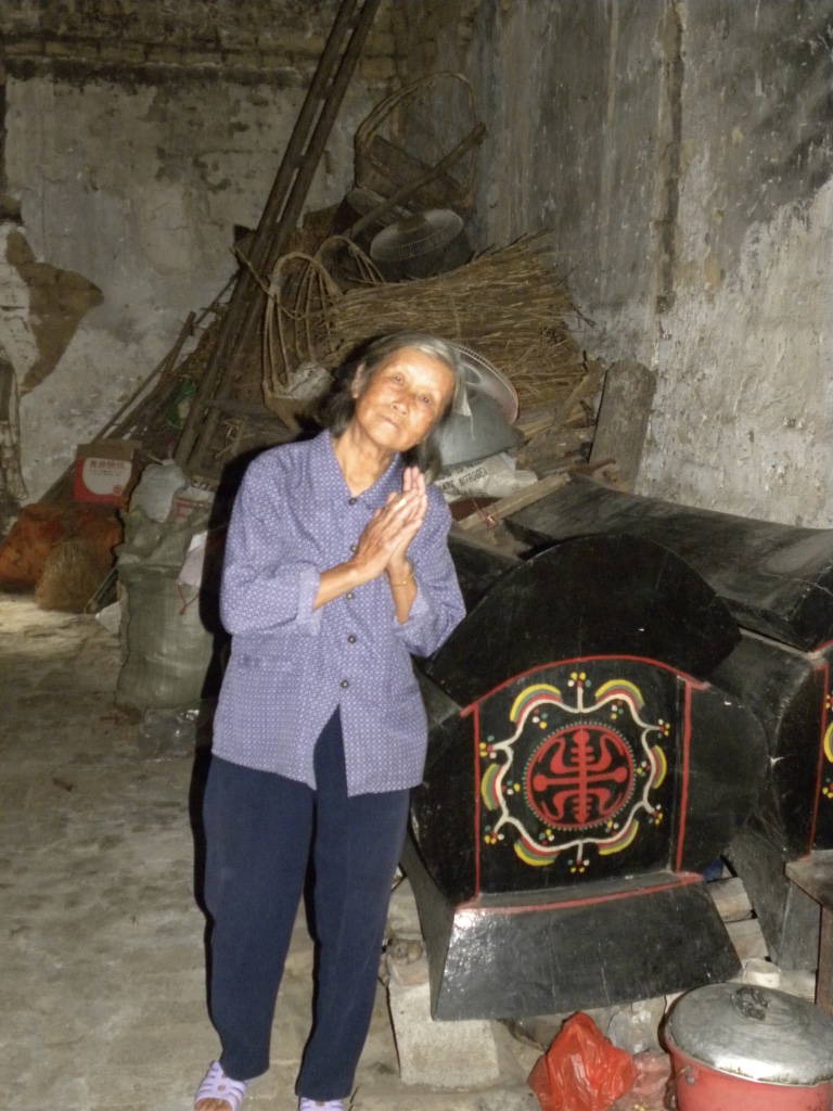 77 year old woman, in her 350 year old home, near Yulong River, Guilin