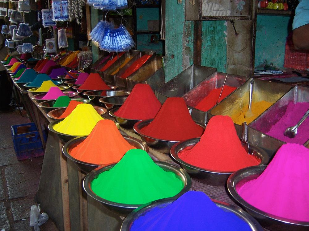 Spices, market Kerala, India