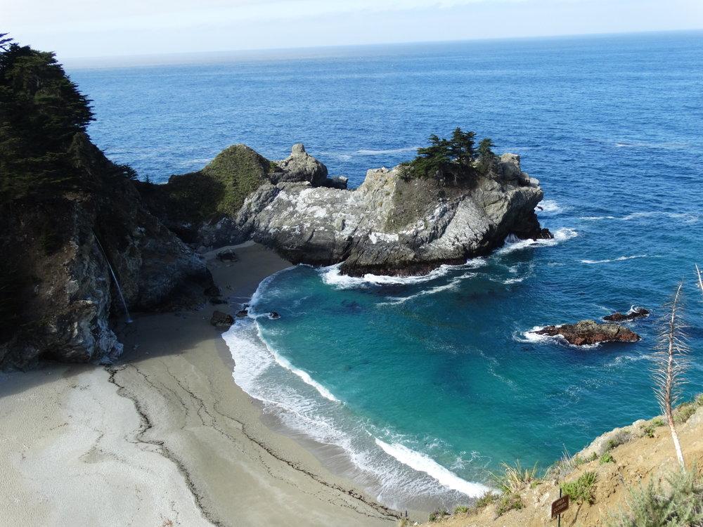 Pacific Ocean shoreline near Big Sur, California