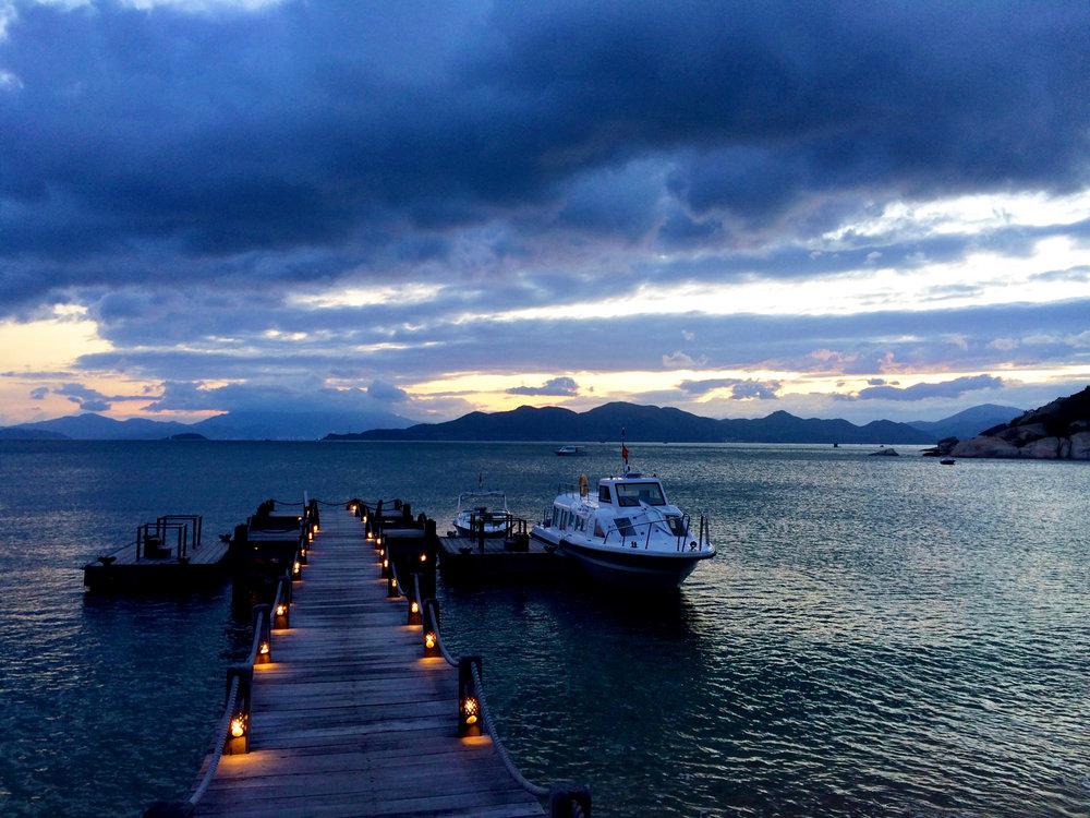 Viet Nam sunset in Ninh Van Bay