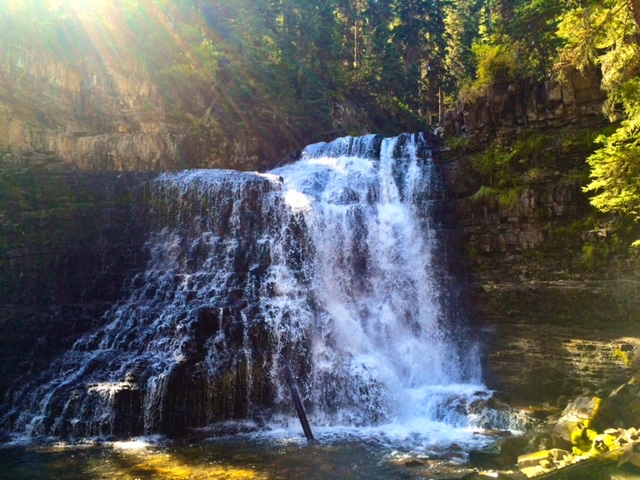 Hyalite Falls, Bozeman, Montana, a favorite, easy hiking destination