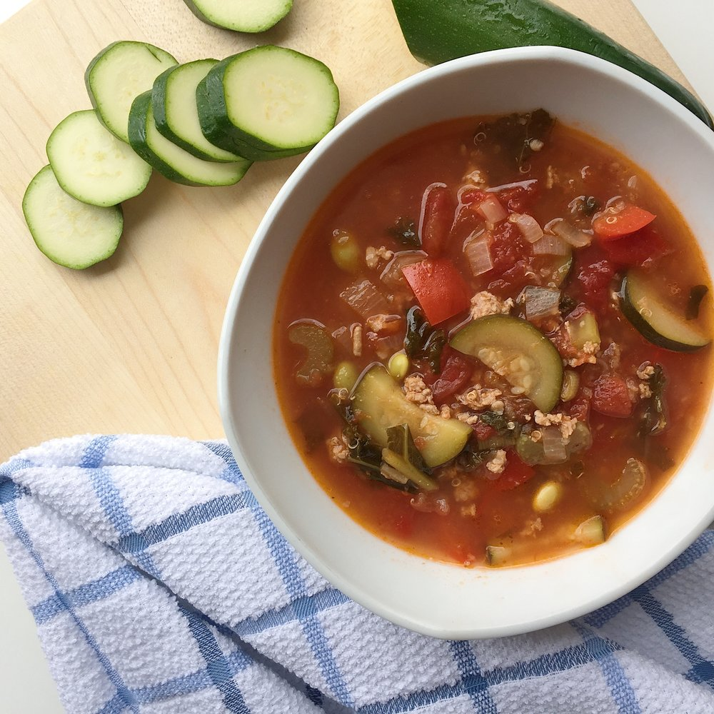 Kale and Quinoa Turkey Soup