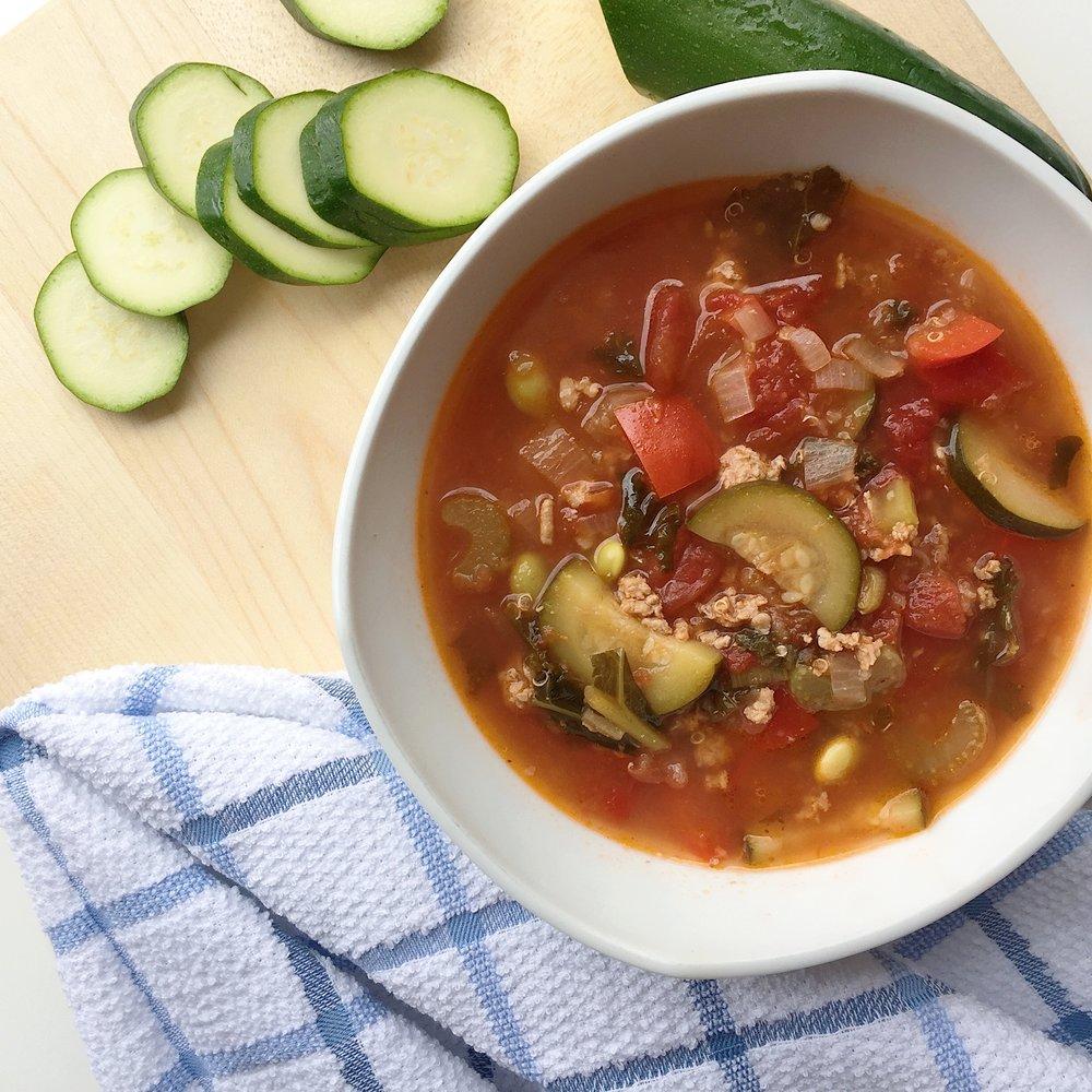 Turkey, Kale & Quinoa Soup