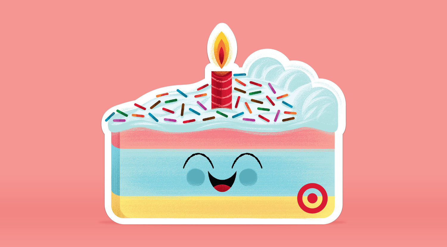 Target Birthday Cake GiftCard Invisible Creature