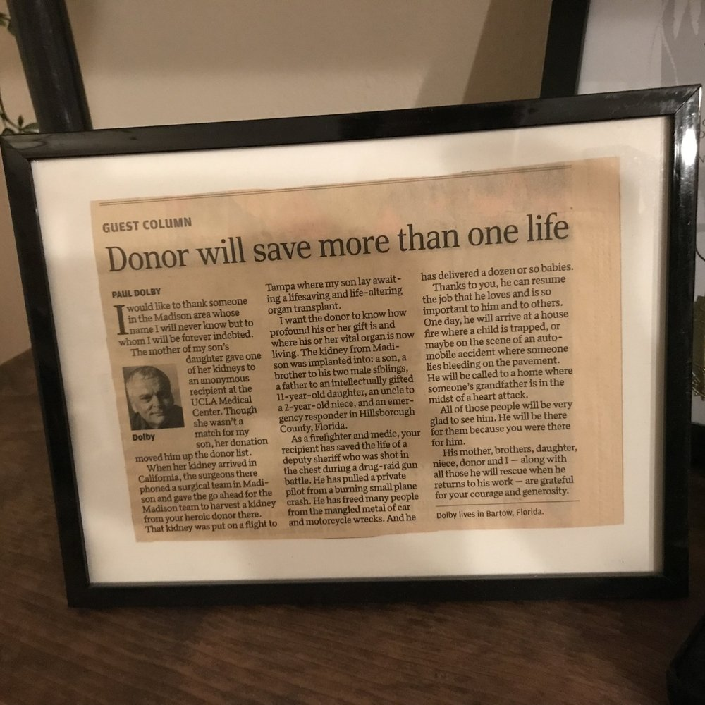 The article Hayley's recipient's dad wrote.