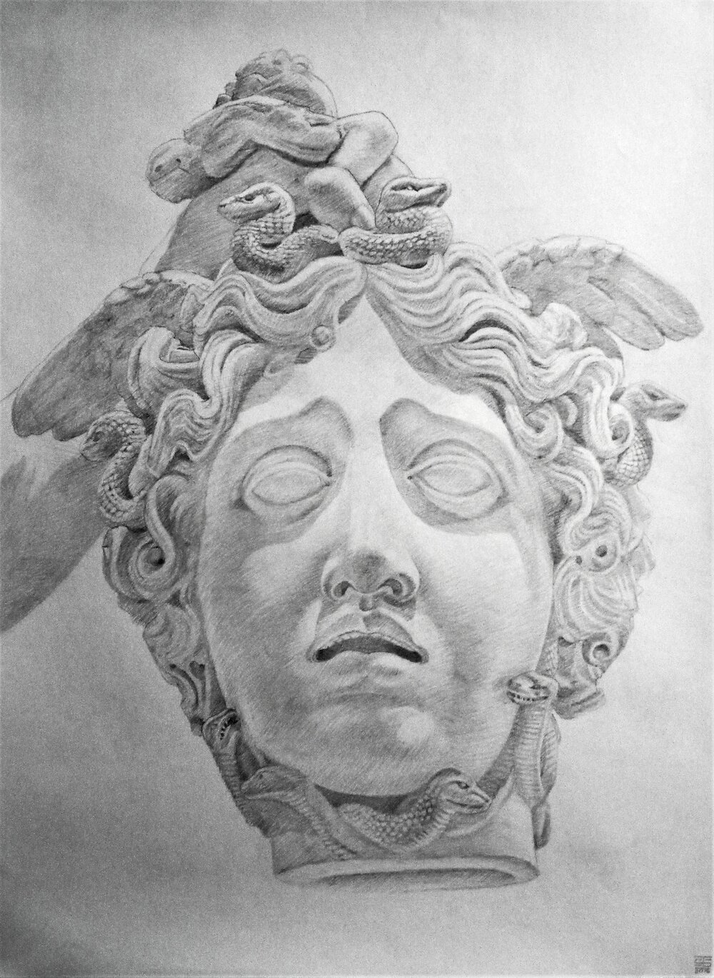 Canova 2, 2016, pencil on paper, 22 x 30""