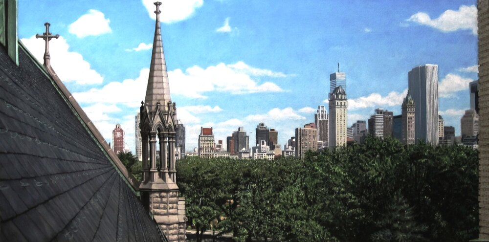 Central Park West, 2014, oil on canvas, 48 x 24""