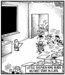 ella sheridan, author, romance, erotic romance, paranormal romance, funny friday, stephen king, cartoon