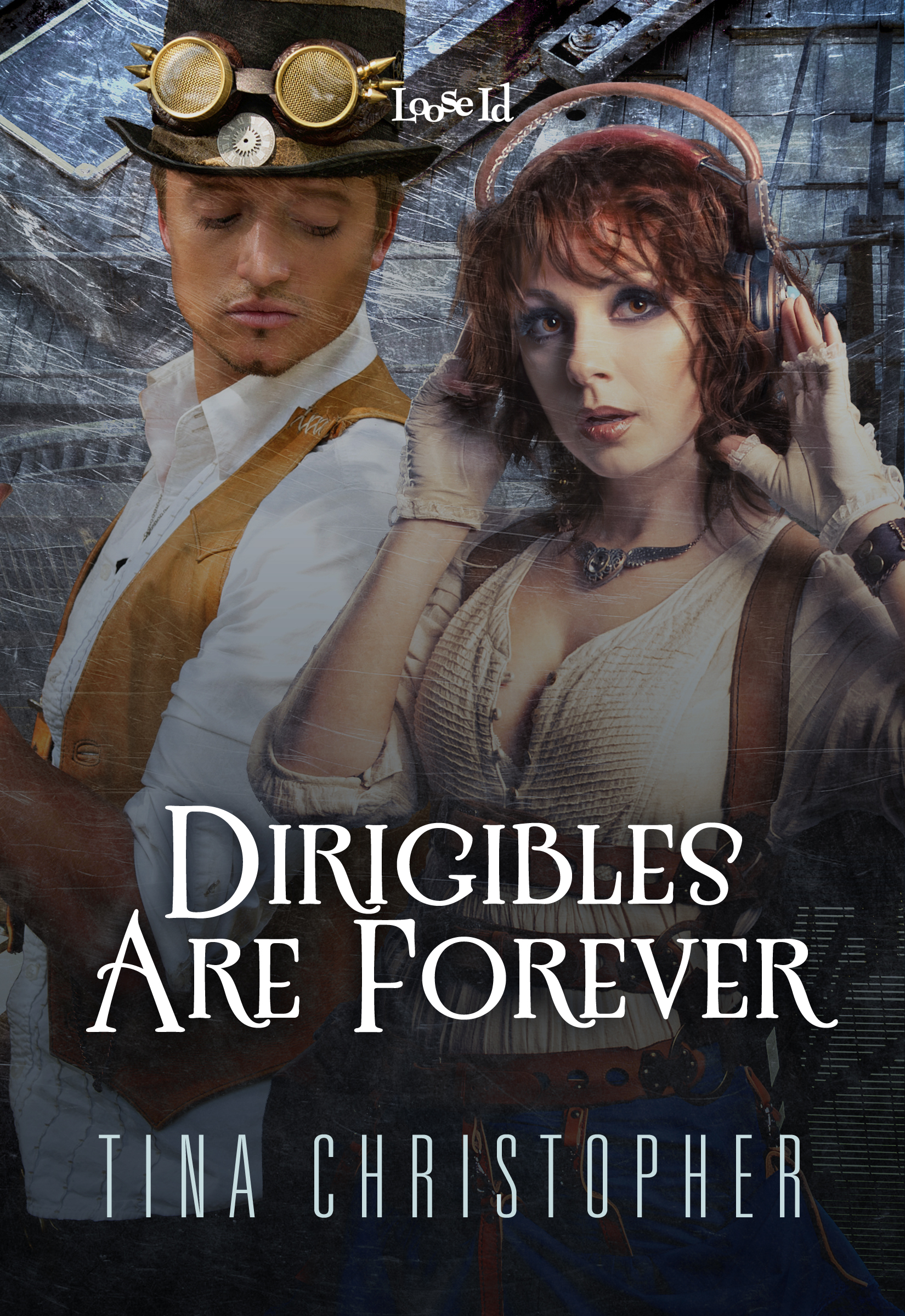 dirigibles are forever, tina christopher, steampunk cover reveal, alternative london, erotic romance, romance, christmas story, christmas romance, ella sheridan, romantic suspense