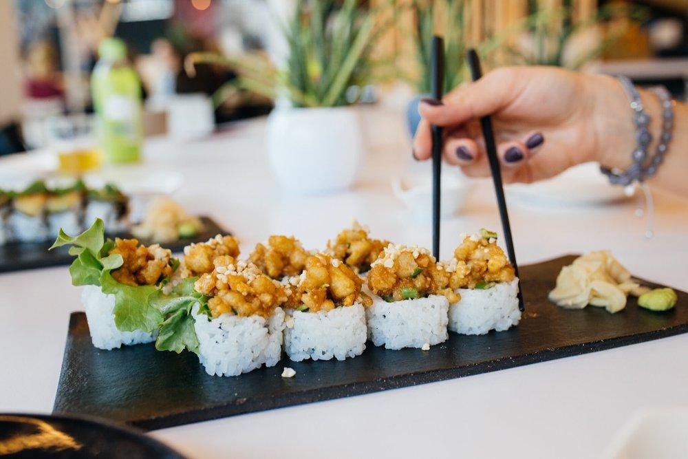 Tofutempura makid pähklikreemiga