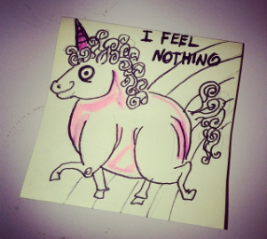 Post-it art by @miaow_or_never