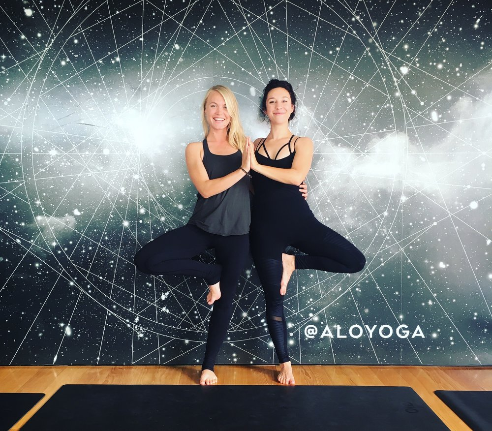 Luna and I after a class at the Alo Yoga store in Beverly Hills