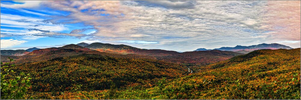 CARRABASSETT VALLEY FALL FOLIAGE - IRA MTN, KINGFIELD