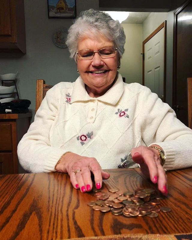Thankful for this beautiful lady... who continues to kick my ass in cards. #gram