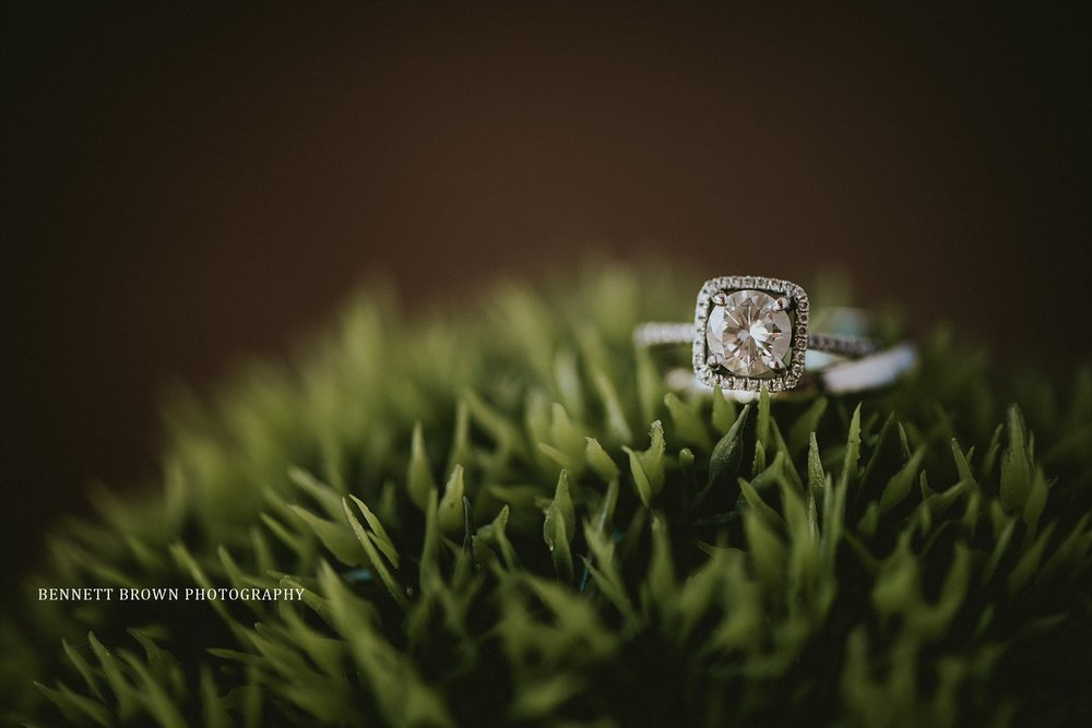 Wedding details Engagement ring halo diamond moss Frisco Texas