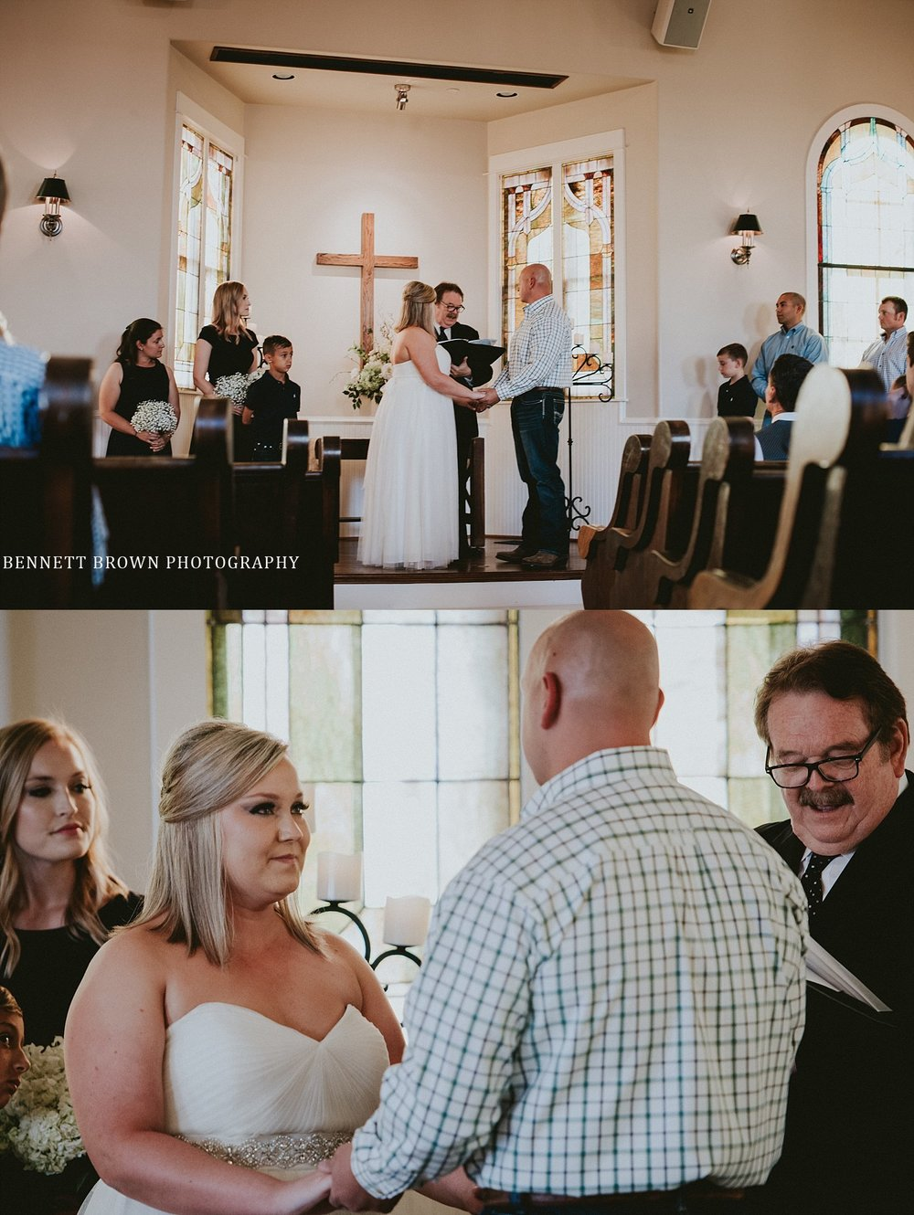 Bennett Brown Photography Frisco Texas Wedding chapel church bride groom wedding party