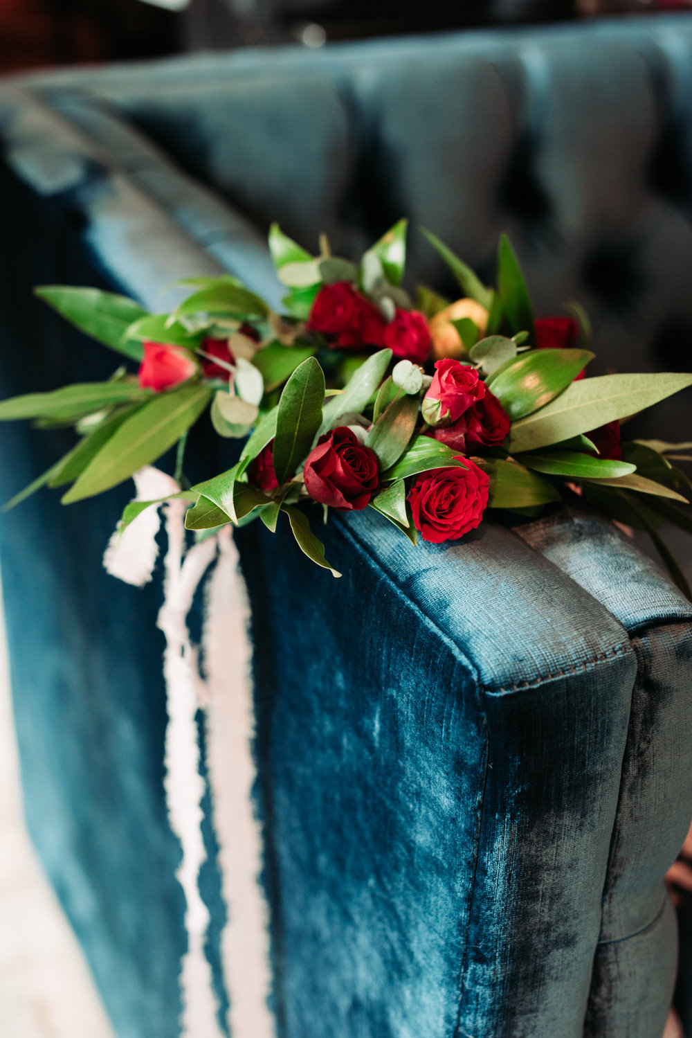 Bennett Brown photography wedding details tulips floral design wedding inspiration blue velvet