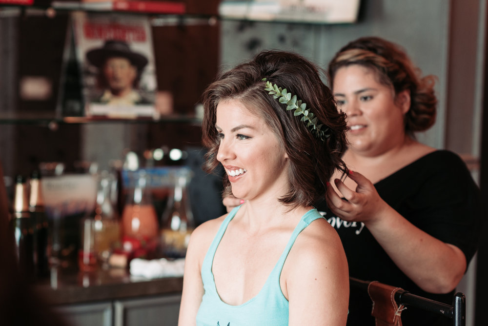 Bridesmaid hairstyle wedding photography