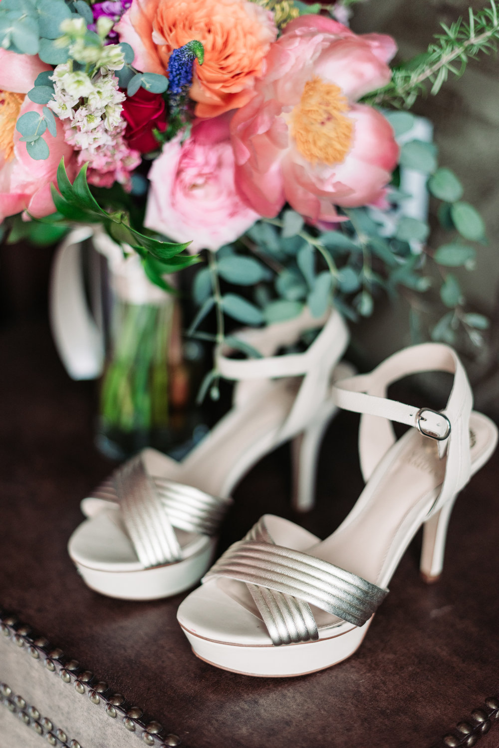 Wedding photography shoes heels wedding details floral design