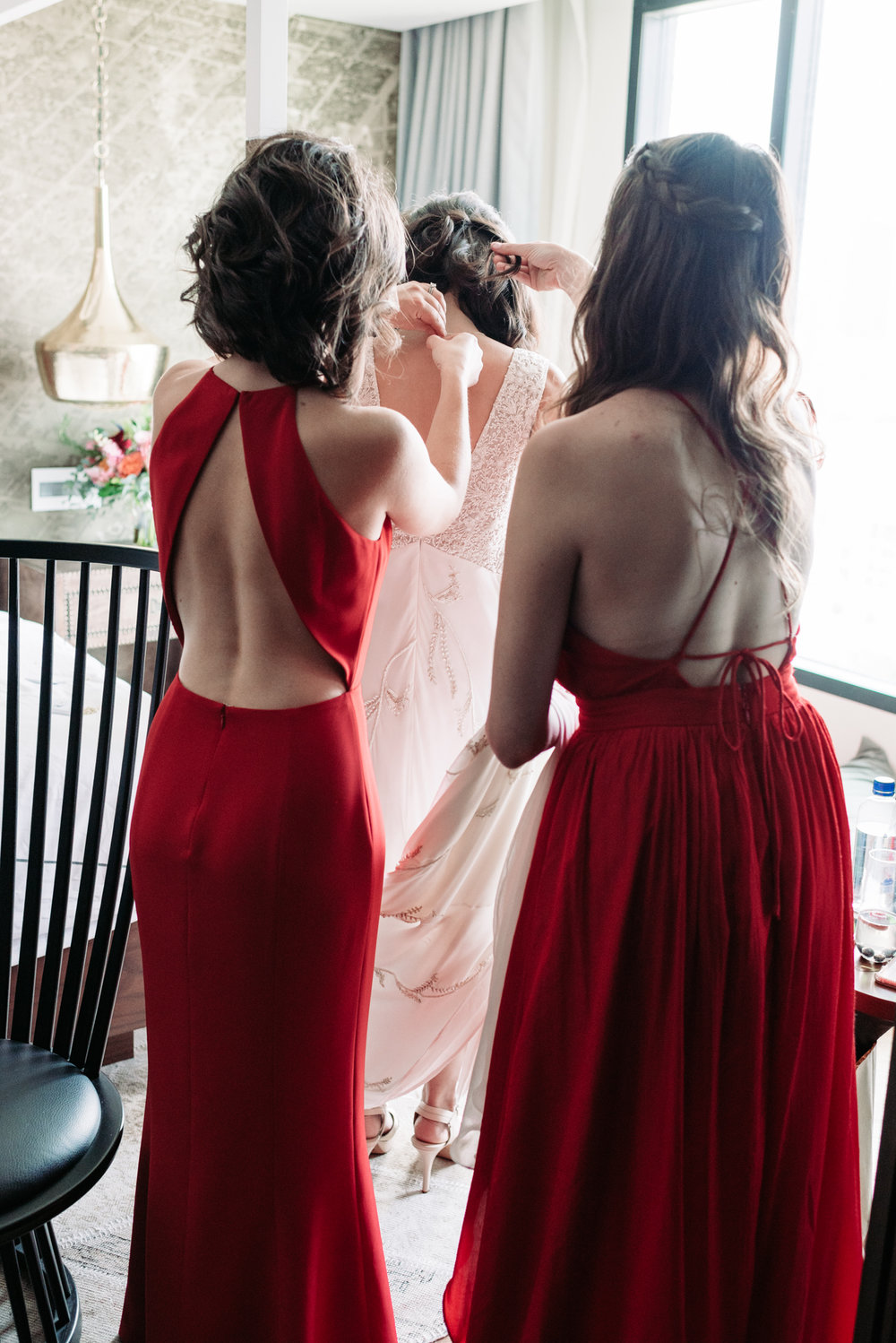 Bridesmaid Bennett Brown photography wedding bridal gown bride