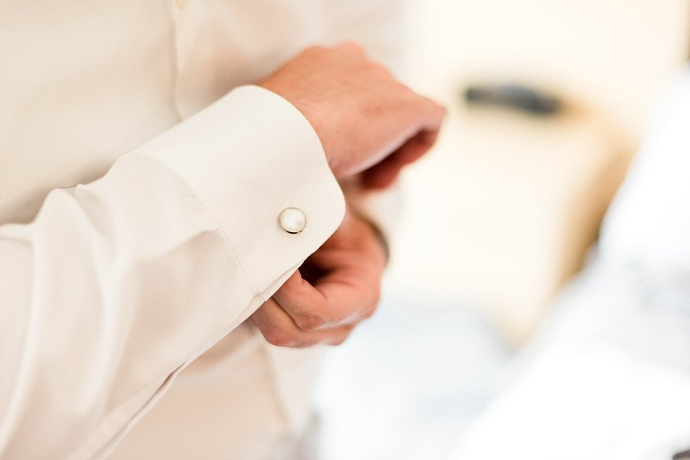Groom cuff links wedding details