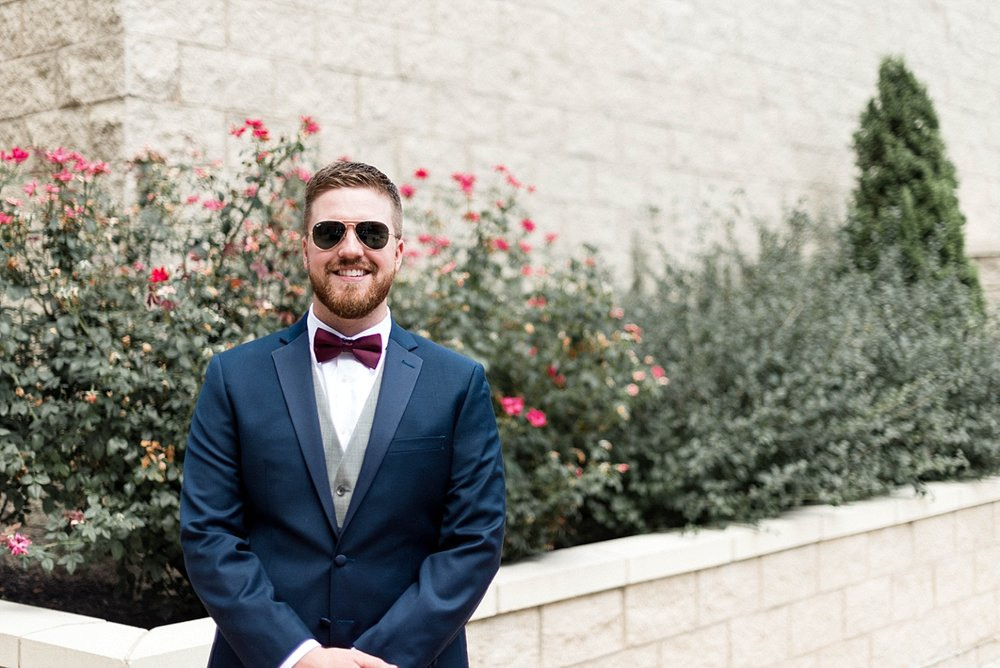 Groom wedding bow tie wedding party photography sunglasses church