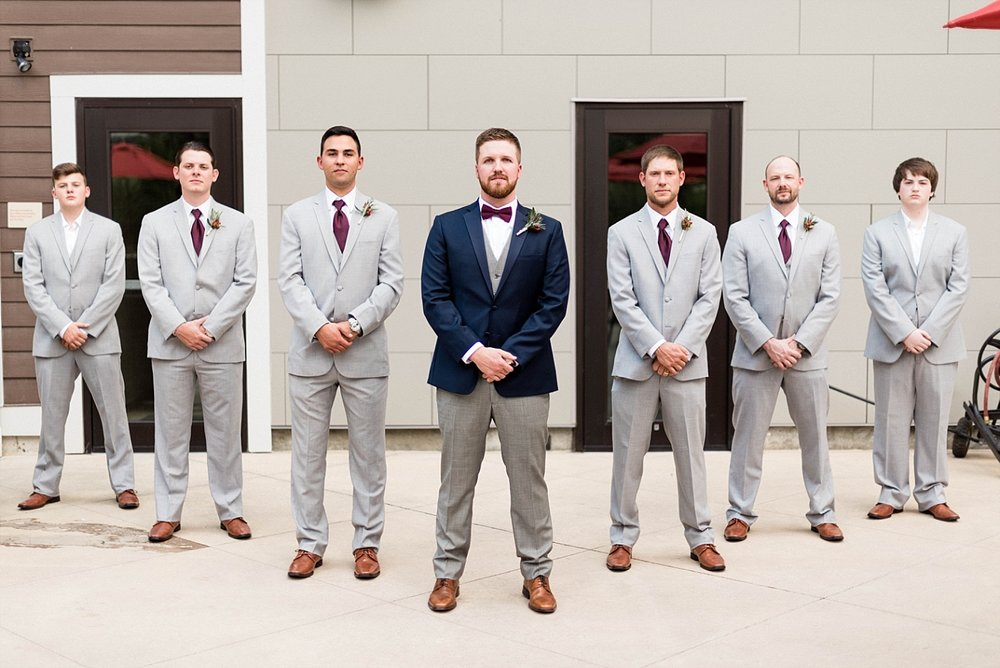 Groom groomsmen wedding church details