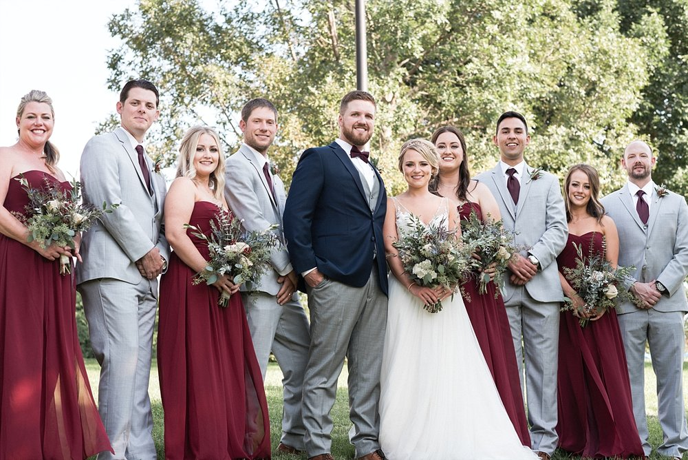Bridal party wedding photography bridesmaid groomsmen