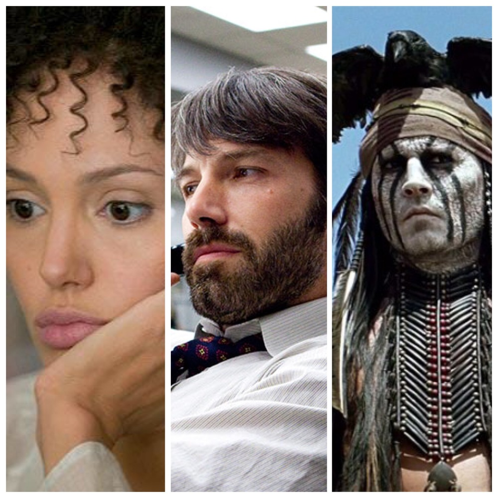 White Actors Playing Poeple Of Color: Angelina Jolie in  A Mighty Heart ; Ben Affleck in  Argo ; Johnny Depp in  The Lone Ranger