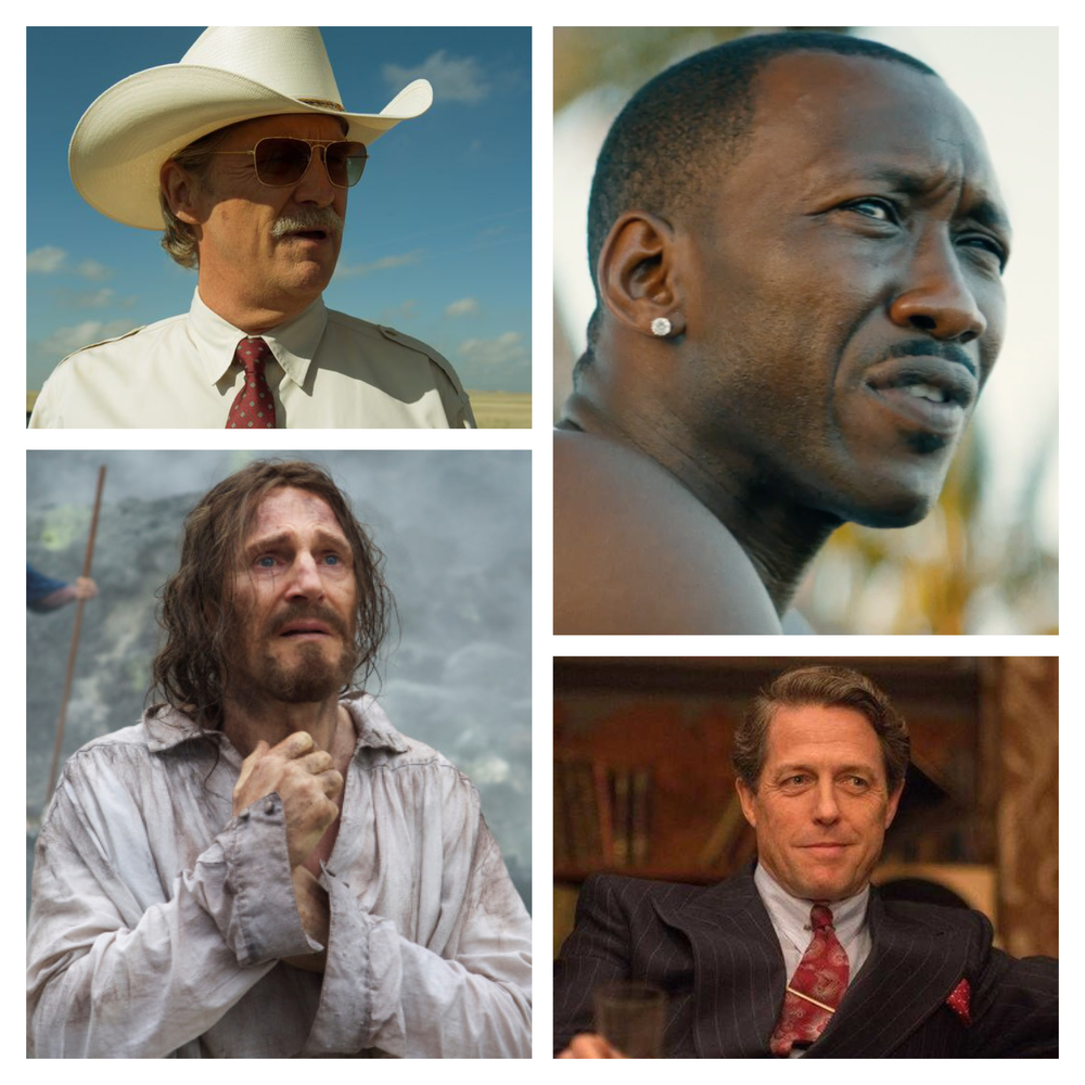 Jeff Bridges,  Hell Or High Water ; Mahershala Ali,  Moonlight ; Liam Neeson,  Silence ; Hugh Grant,  Florence Foster Jenkins