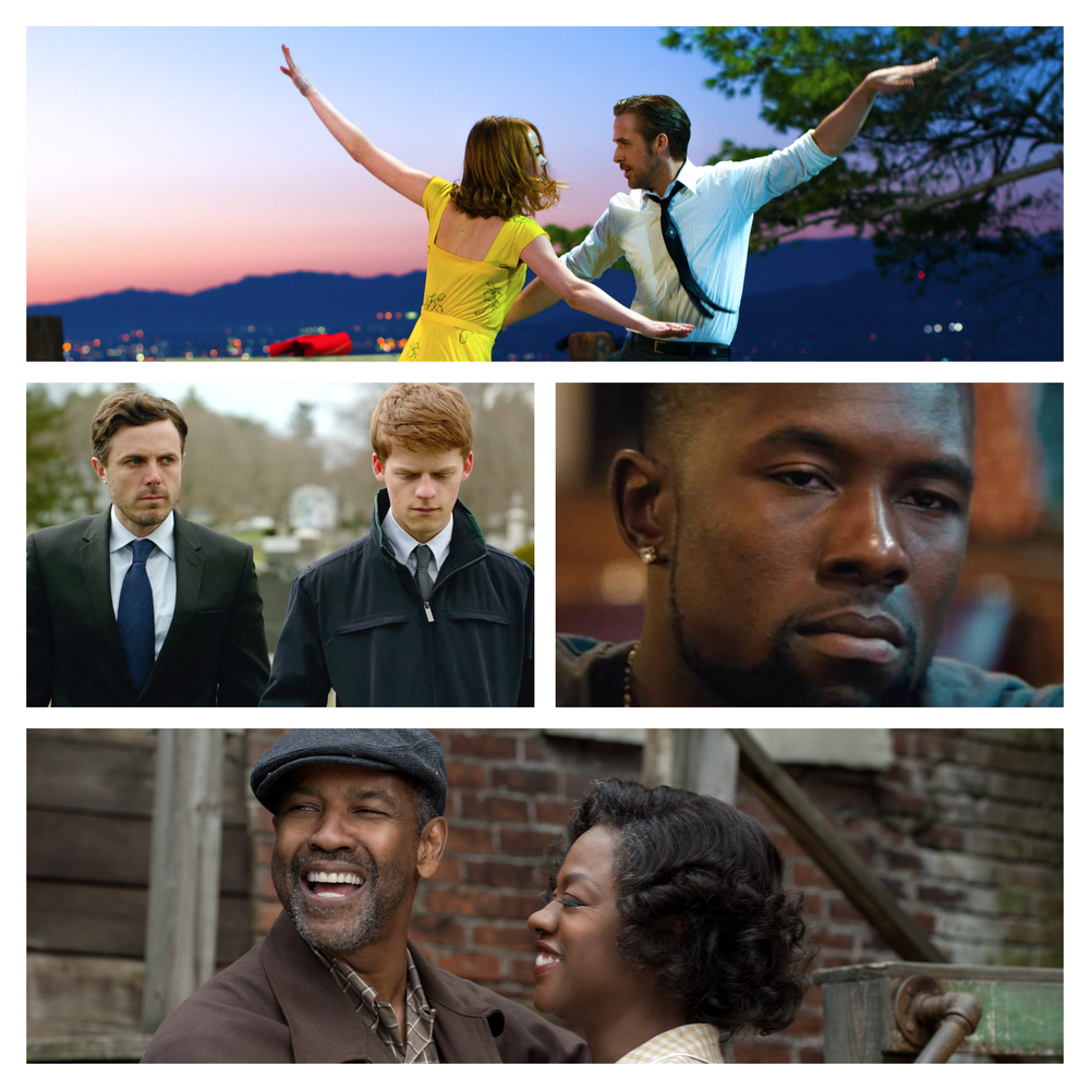 La La Land, Manchester By The Sea, Moonlight, Fences